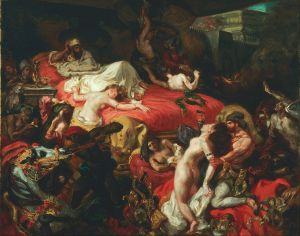 Eugène Delacroix, La muerte de Sardanápalo. 1844.