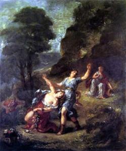 Eugène Delacroix, Orfeo y Eurídice, Primavera. 1862.