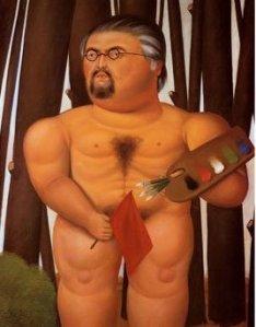 Fernando Botero, Autorretrato.