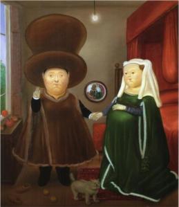 Fernando Botero, El matrimonio Arnolfini. 1978.