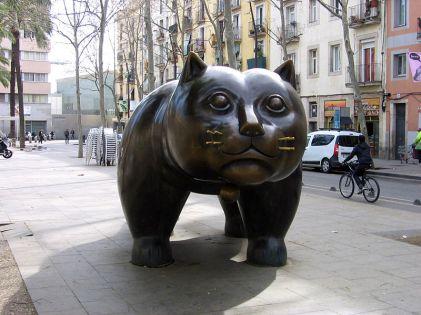 Fernando Botero, Gato. 1990.