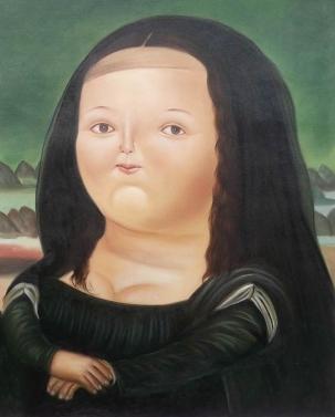 Fernando Botero, La Mona Lisa a los 12 años.