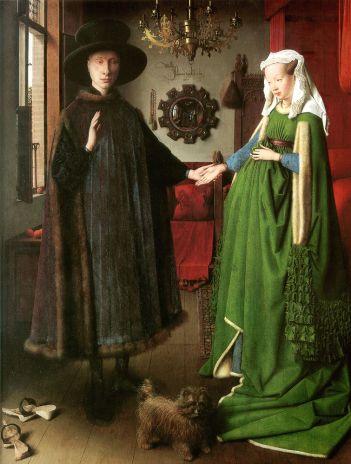 Jan van Eyck, El matrimonio Arnolfini 1434.