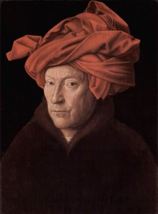 Jan van Eyck, Retrato de hombre con turbante rojo. 1433. (Posible autorretrato)