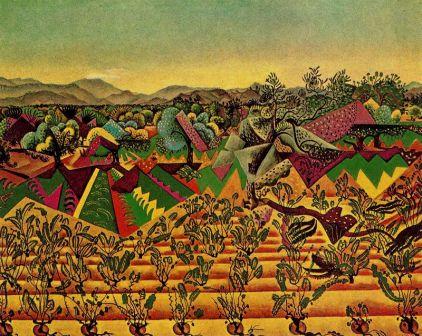 Joan Miró, viñas y olivos.