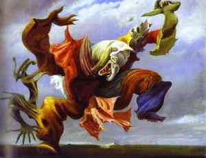 Max Ernst, L'Ange du Foyer. 1937.