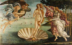 Sandro Botticelli, El nacimiento de Venus. 1485.