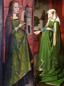 Santa Catalina (Maestro de Flémalle) Juana de Chenany (Jan van Eyck)
