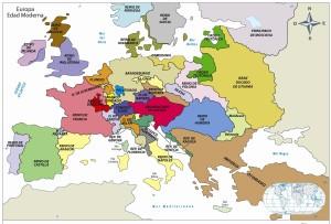 Mapa político de la Europa Moderna
