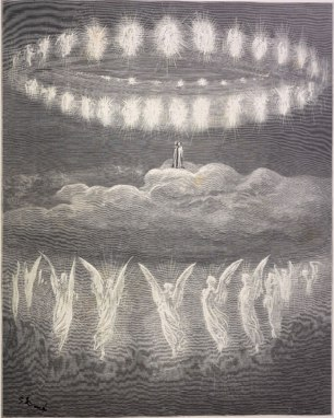 The sparkling circles of the heavenly host.
