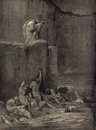 Gustave Doré, los aduladores.