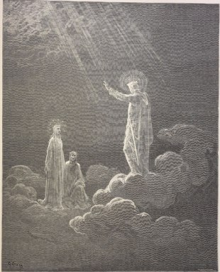 El cielo de Venus, Charles Martel addresses Dante and Beatrice.