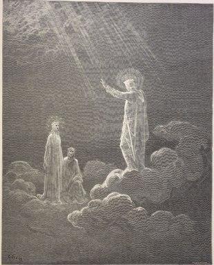 El cielo de Venus, Charles Martel addresses Dante and Beatrice.