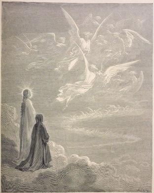 El cielo de Mercurio, Dante y Justiniano.