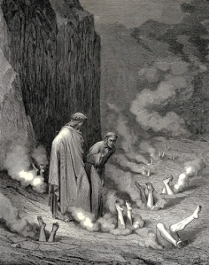 Gustave Doré, los simoniácos.