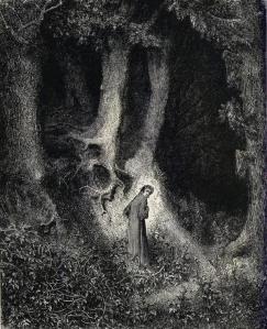 Gustave Doré, Dante en la Selva Oscura.