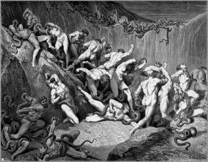 Gustave Doré, los ladrones.