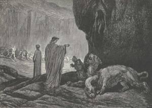 Dante y Cerbero