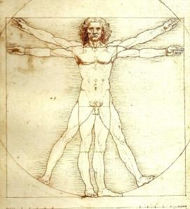 Leonardo da Vinci, Hombre de Vitruvio.