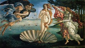 Boticelli, El nacimiento de Venus.