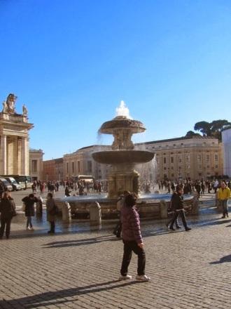 Bendita el agua de la fuente de San Pietro.