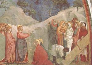 Giotto, Resurrección de Lázaro.