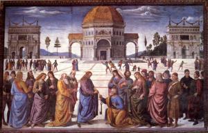 Perugino, La entrega de las llaves.