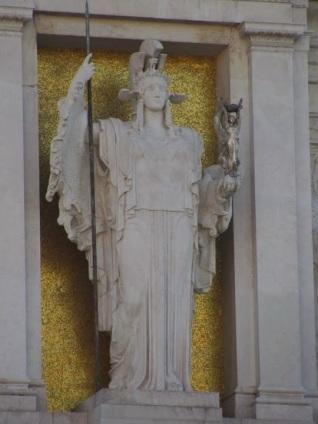 Atenea en Grecia, aquí Minerva.