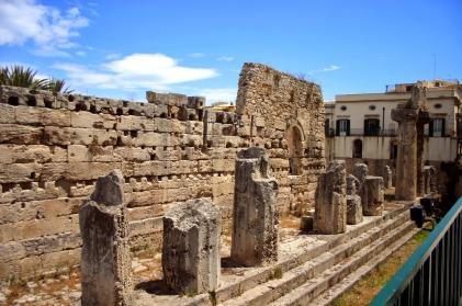 Lo que queda del templo de Apolo.