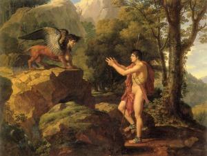 Edipo y la Esfinge, François-Xavier Fabre.