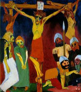 Emil Nolde, Crucifixión.