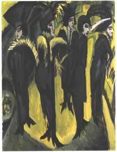 Ernst Ludwig Kirchner, Cinco Mujeres en la Calle.