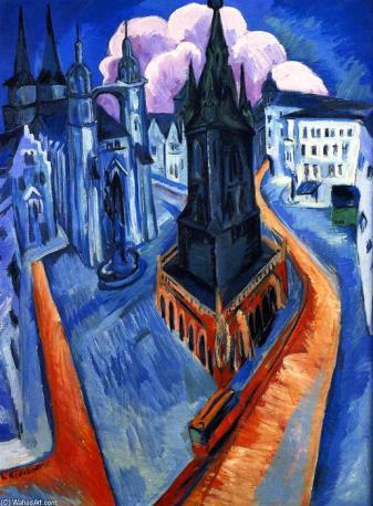 Ernst Ludwig Kirchner, La Torre Roja de Halle.