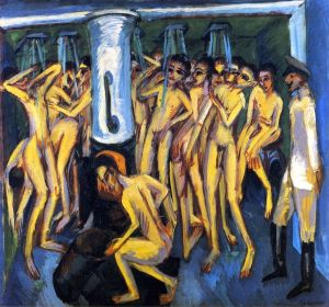Ernst Ludwig Kirchner, The Soldier Bath.