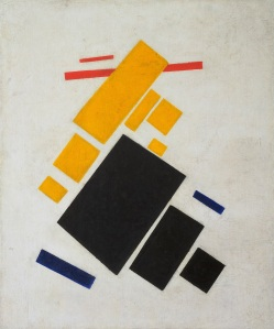 Kazimir Malévich, Composición Suprematista: Avión en Vuelo. 1915.