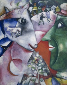 Marc Chagall, I and the village. 1911.