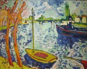 Maurice de Vlaminck, The River Seine at Chatou.