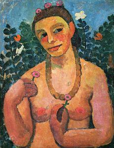Paula Modersohn-Becker, Selbstporträt.
