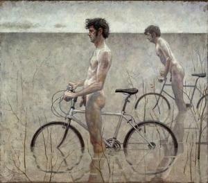 Daniel Barkley, Men on bicycles