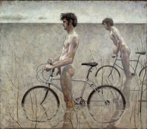 Daniel Barkley, Men on bicycles