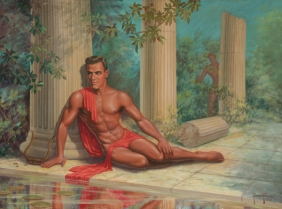george-quaintance-apollo_oil-on-canvas_1952_sold-for-10350-00