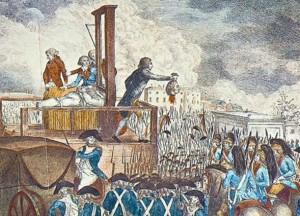 Luis XVI guillotinado