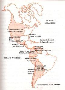 Mapa Virreinatos