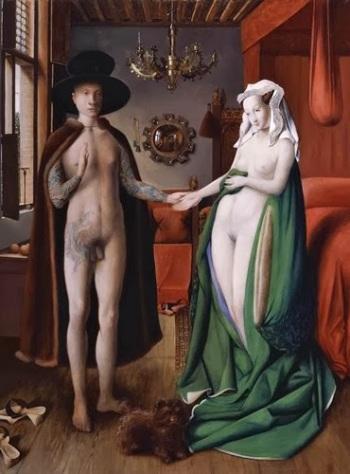 El Matrimonio Arnolfini, Benjamín Domínguez