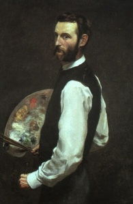 Frédéric Bazille, Autorretrato.