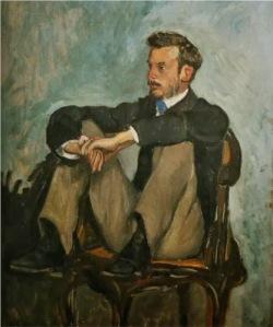 Auguste Renoir, Portrait of Frédéric Bazille. 1867.