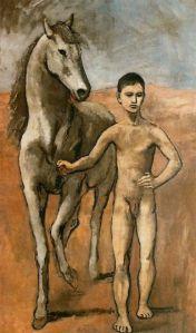 Pablo Picasso, Joven Conduciendo un Caballo. (Periodo Rosa)