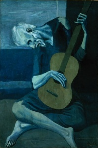 Pablo Picasso, Viejo con Guitarra. 1903.
