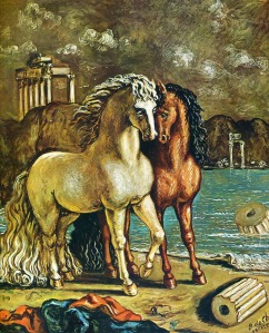 Georgio de Chirico, Antique horses on the aegean shore