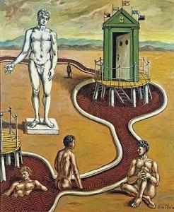 Georgio Bains mystérieux avec statue ou L'Idole des bains mystérieux , vers 1948